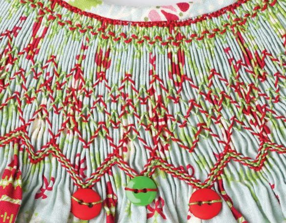 """One of the best things about the holidays is sewing beautiful holiday clothing – from the fancy velvet dresses fit for family portraits, to the festive fabric print designs suitable for any day of the season. We just added an adorable new line of Christmas fabrics into our online store, and one of several designs that came to mind when I saw them was Laurie Anderson's """"Baubles"""" bishop dress from …"""