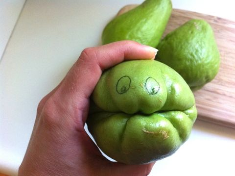 Wily Chayote...recipe for Chayote Squash. something different for dinner tonight. ~ Re-Pinning from my Creative Cooking Board