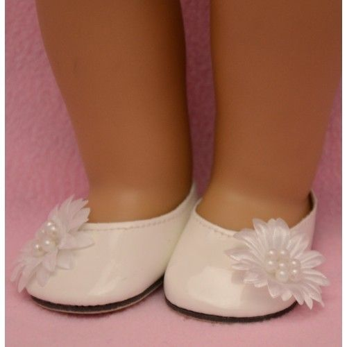 Trendy Dolls - White Patent Shoes . Save $4. On Sale Now. Limited Qtys., $4.99 (http://www.mytrendydoll.com/white-patent-shoes/)