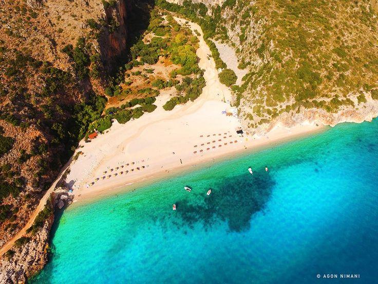 Perla e bregdetit shqiptar! #coloursofalbania — at Gjipe Beach.