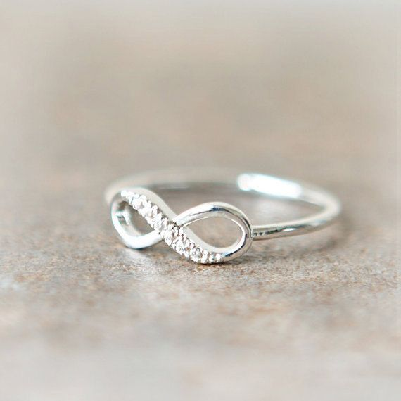ON SALE  Infinity Ring in silver by laonato on Etsy, $11.50
