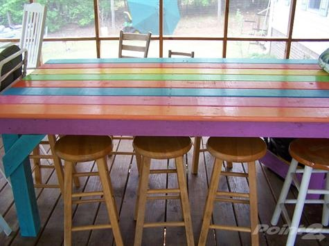 Painted Picnic Table Yard And Garden Pinterest