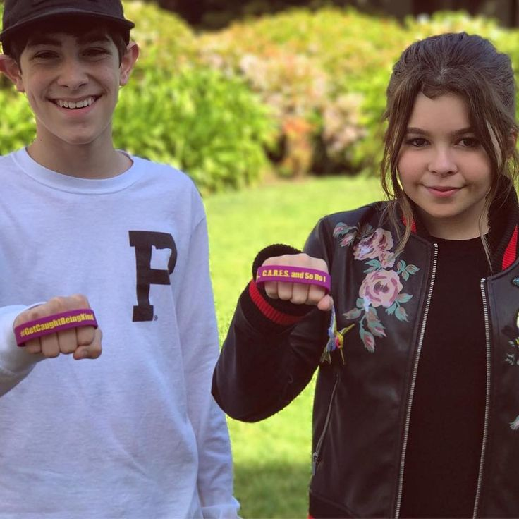 Addison Riecke and Diego Velazquez of Nickelodeon's The Thundermans are showing the world how to #GetCaughtBeingKind!!!   Are YOU someone who C.A.R.E.S.? Get your bracelet for $2 today to show your compassion and support for kids with special needs.