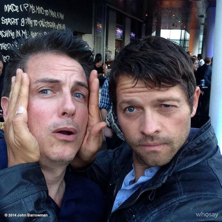 Misha Collins and John Barrowman at Comic Con... and once again, I am unsure how the world is still in one piece after so much awesome being in one place, let alone touching.