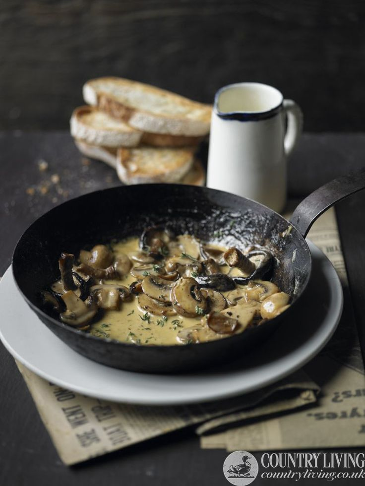 Mushrooms on toast winter supper recipe by Country Living UK. Photo by Philip Webb http://www.countryliving.co.uk/create/food-and-drink/mushrooms-on-toast