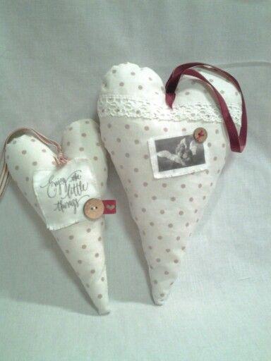 Hjärtan till jul - vit