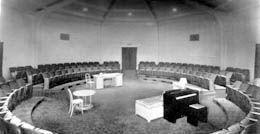 Interior, theater in the round, Penthouse Theatre, UW Campus
