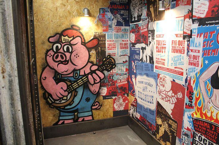 Grillstock - Restaurant #mural  #handpainted #illustrative
