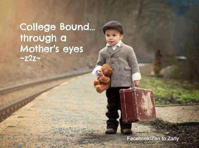 "Can you relate? Sometimes it can feel like you're sending your ""babies"" off to college. Try to trust in the fact they are becoming independent adults and remember that this transition is an important part of growing up."