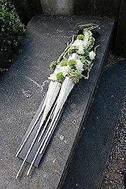 Funeral flower arrangement ~ Baudouin Roelants