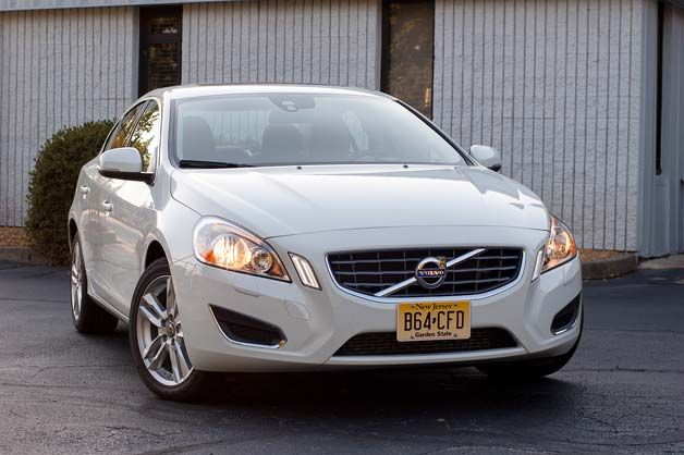 2013 Volvo S60 T5 AWD - front three-quarter view, white