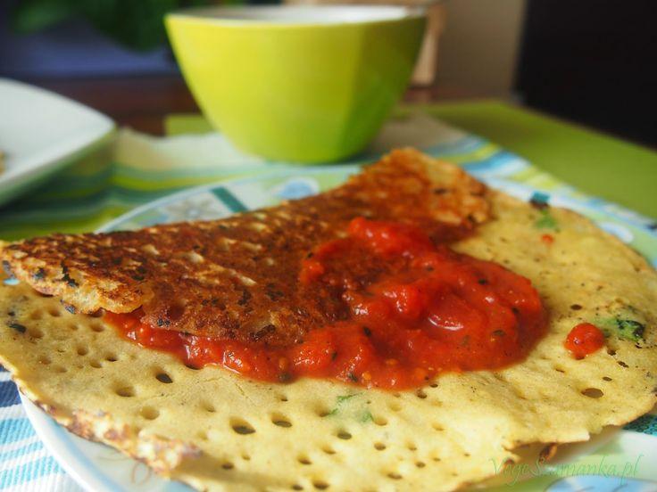 Placki z mąki ryżowej #breakfast  #veganbreakfast