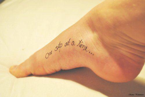#Interesting tattoos!!!#Love tattoo, love life!# Small Black Foot Quote Tattoos for Girls - Inspirational Foot Quote Tattoos for Girls