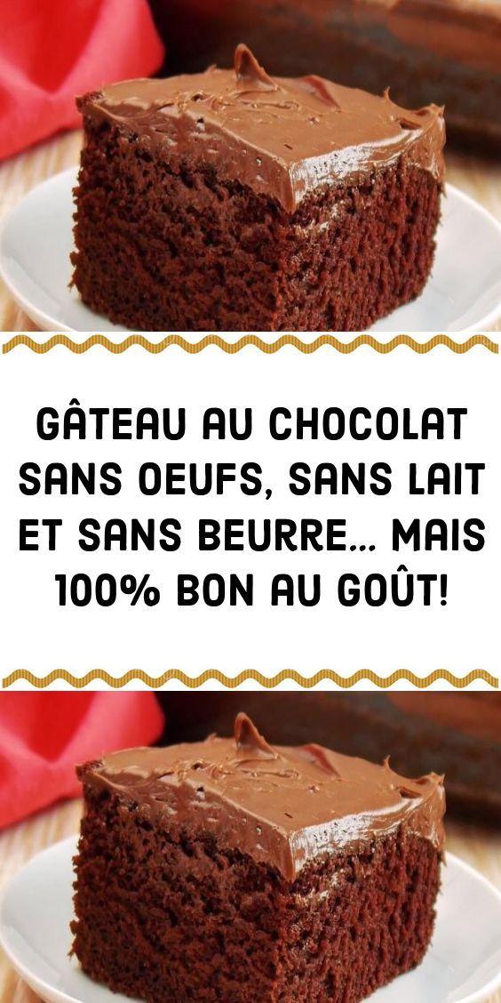 Gâteau au chocolat sans oeufs sans lait et sans beurre ...
