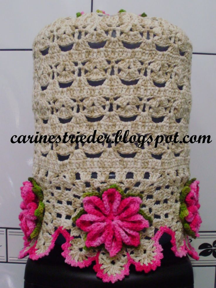 Carine Strieder e seus Crochês: Capa para Galão d'Água em Crochê