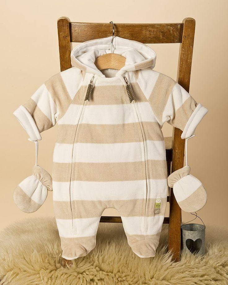 Bebés ropa unisex Para - Trajes de bebé monos de nieve / Pram - - Stripe Velour BabySnowsuit ordenar porción Producto