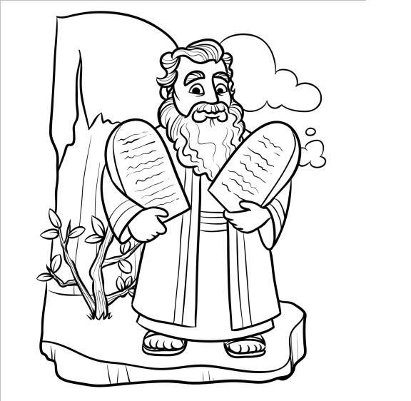 coloring pages ten commandments tablets for sale | 58 best Moses - Ten Commandments images on Pinterest ...