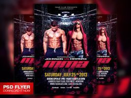 Fight / MMA / UFC Night Flyer Template PSD by Art-MiraNAX