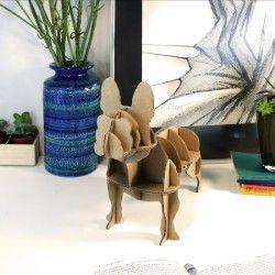 ♡Milimetrado Kartonnen Mini Bulldog♡  De Mini Franse Bulldog van Karton is niet alleen mooi en stoer, hij is ook milieuvriendelijk en kan je helpen om georganiseerd te blijven in stijl! ~Milimetrado~