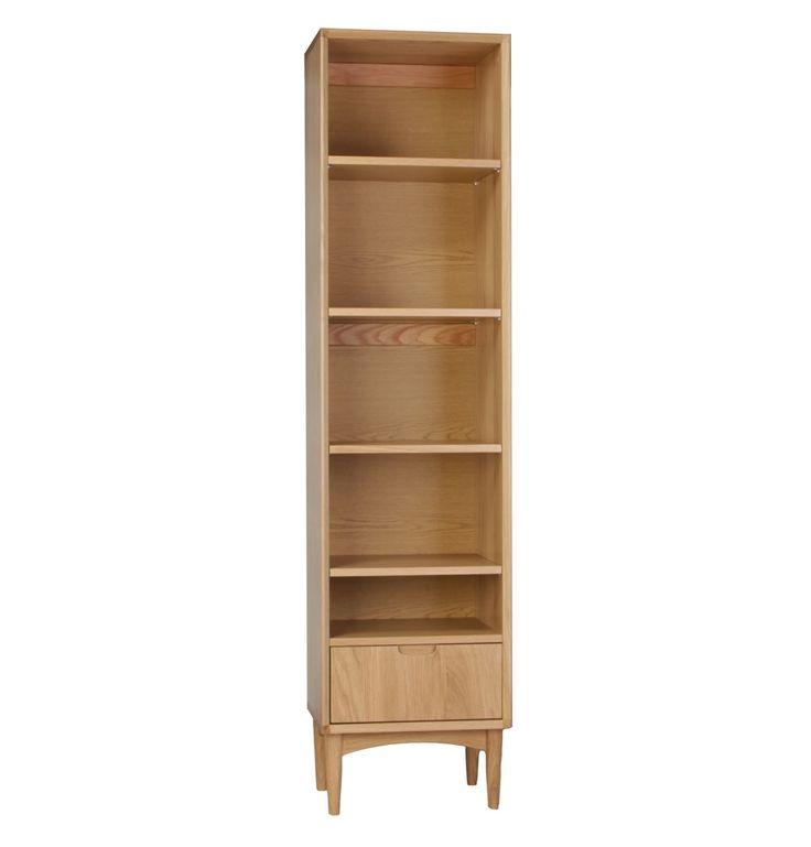 Oslo Single Bookshelf - Matt Blatt