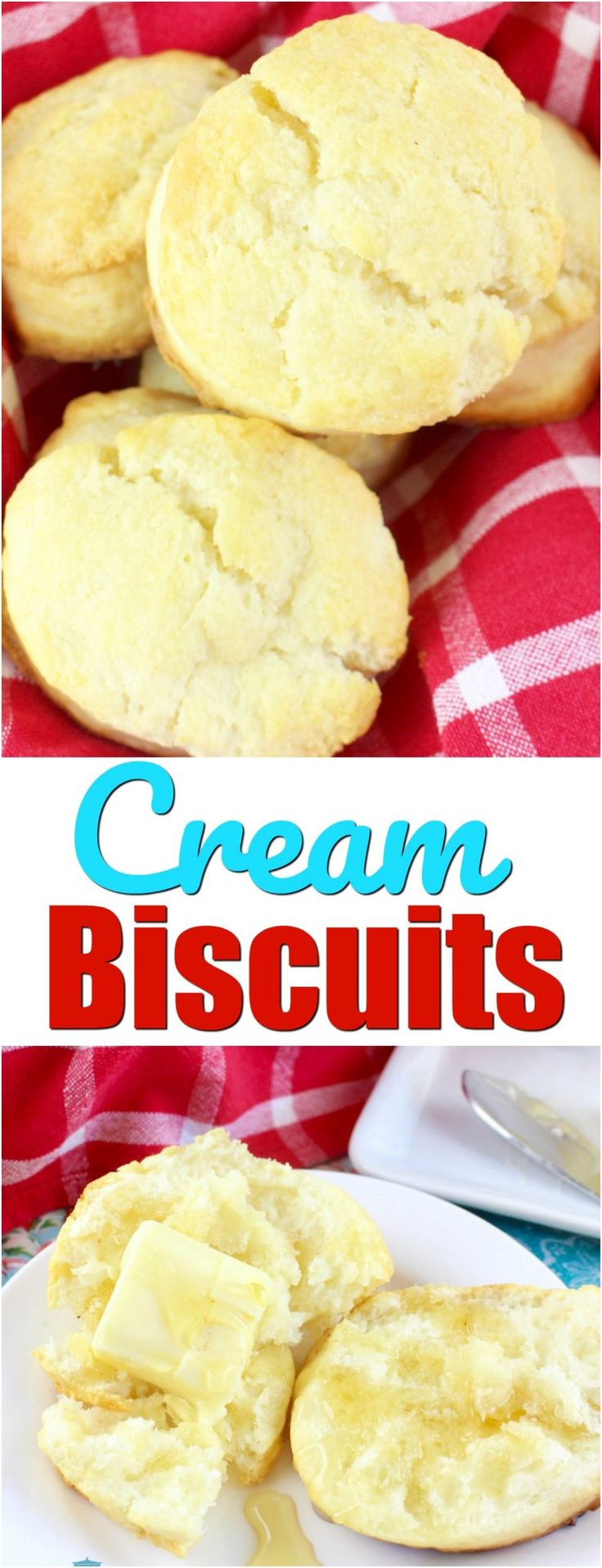2-Ingredient Cream Biscuits recipe from The Country Cook
