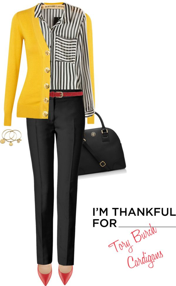 """Cardigan by TORY BURCH"" by fashionmonkey1 on Polyvore"