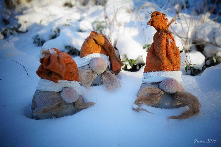 funny elves, made of concrete