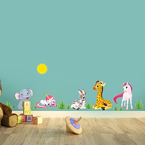 Zooarts Cartoon Animals Elephant Giraffe Horse Wall Stick... https://www.amazon.co.uk/dp/B01IR47L2A/ref=cm_sw_r_pi_dp_x_W7TNybES3DXZT