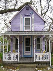 original pinner sez: yes, i'd love to live in a purple storybook house