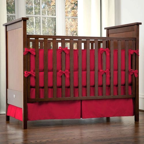 Red Baby Bedding | Solid Red Crib Bedding Collection | Carousel Designs