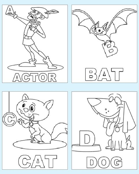 preschool coloring pages of abc - photo#3