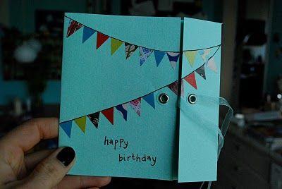 Sjov idé til kort, invitationer og indpakning! Godt fundet på...