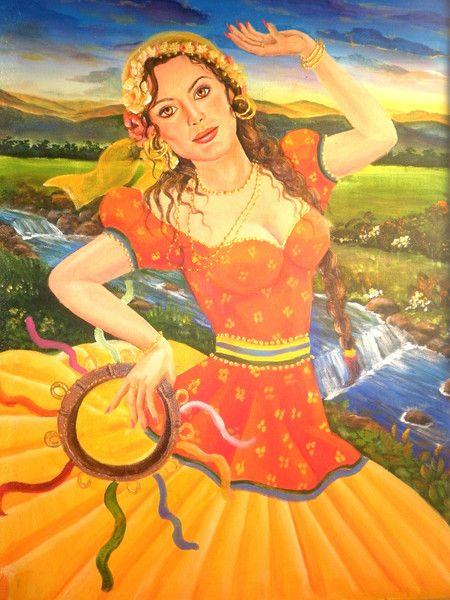 ciganinhas | Sarita no entardecer imagem maria do carmo