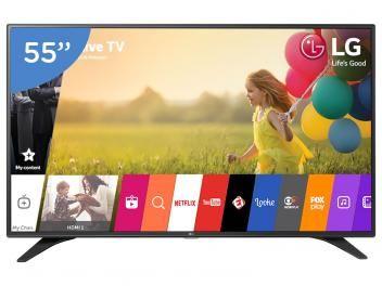 """Smart TV LED 55"""" LG Full HD 55LH6000 WebOs - Conversor Digital Wi-Fi 3 HDMI 2 USB com as melhores condições você encontra no Magazine Allameda! Venha conferir!"""