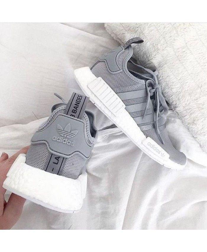 Günstige Adidas NMD Grey mit reflektierenden Stre…