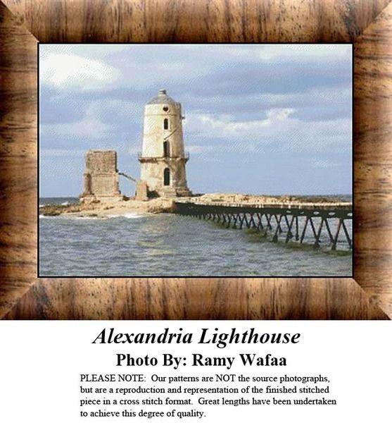 Alexandria Lighthouse, Counted Cross Stitch Pattern, Kit & Digital Download #pinterestcrossstitchpatterns #crossstitch #pinterestgifts