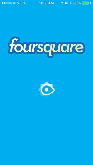 #iOS7  Foursquare Splash Screen
