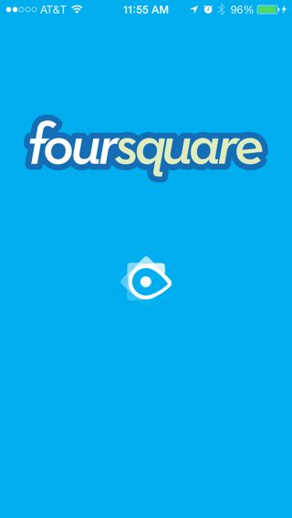 #iOS7  Foursquare Splash Screen