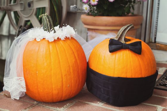 bride and groom pumpkins long island wedding photographer