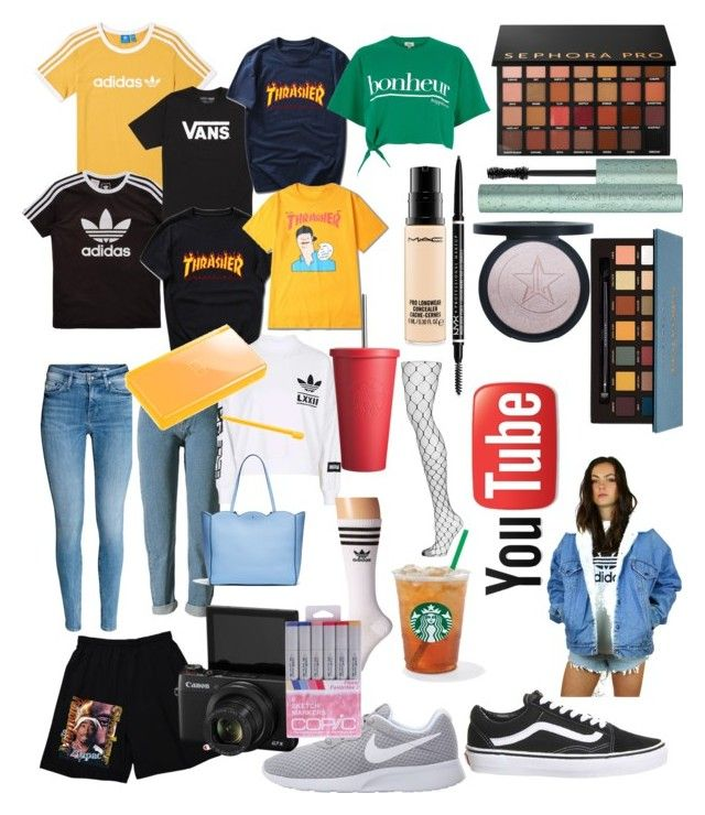 """YOUTUBE🌹"" by by-miaxx on Polyvore featuring Mode, adidas, adidas Originals, Vans, Sephora Collection, Topshop, NIKE, River Island, NYX und Nintendo"