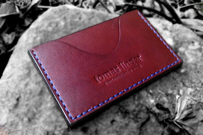 pouzdro na kreditní karty kožené
