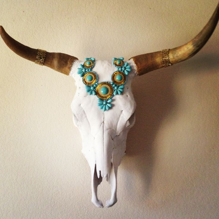 xx Indian Princess Cow Skull xx