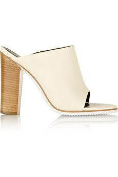 Tibi Bee leather mules   NET-A-PORTER