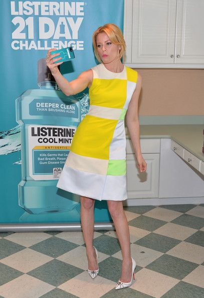 Actress Elizabeth Banks launches the 2nd Annual Listerine 21-Day Challenge at The Children's Dental Center of Greater Los Angeles on Februar...