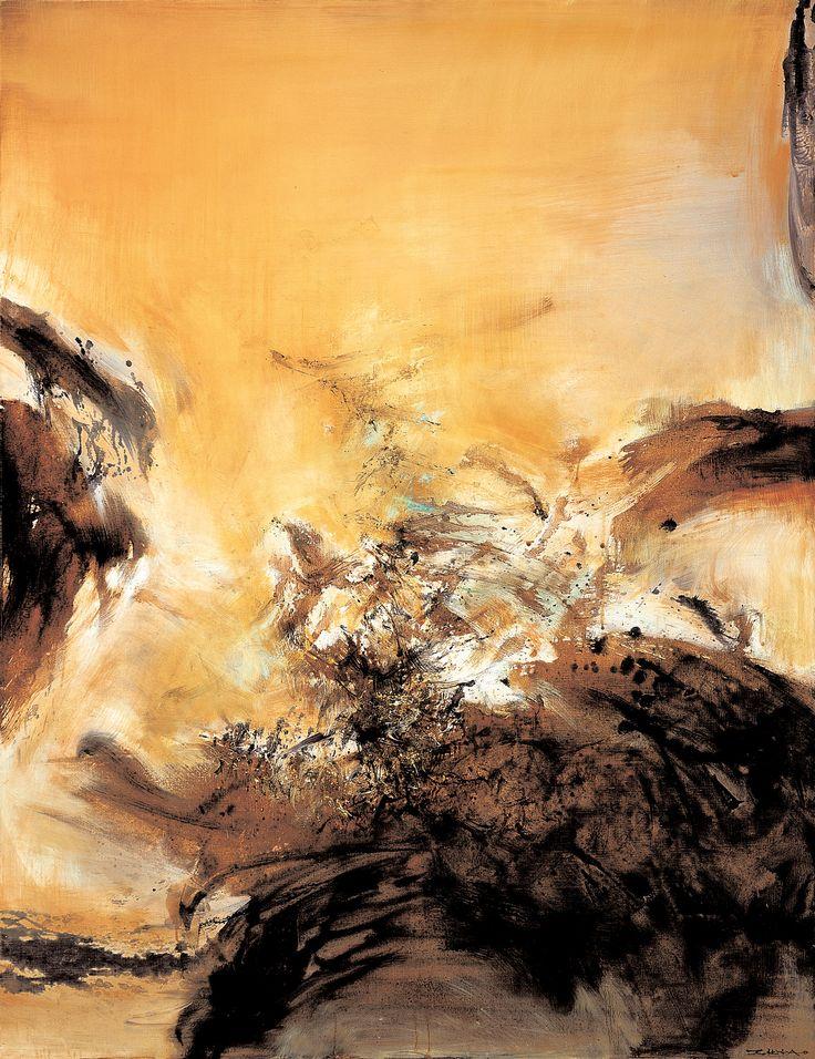 ZAO Wou-ki 28.4.75 1975 oil on canvas 116 x 89 cm Hong Kong auction item
