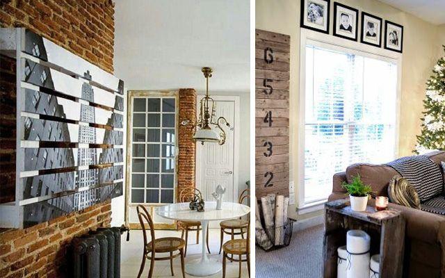 Decorar con pallets paneles decorativos y separadores de - Decoracion con palets ...