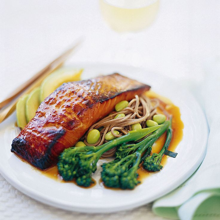 Salmon teriyaki with soba noodles recipe - 292 per serve