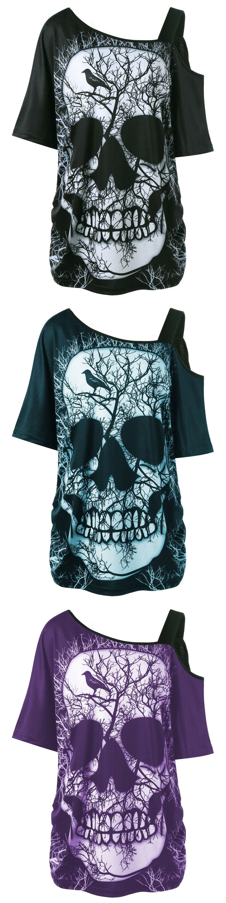 $8.5,Plus Size Skew Collar Skull T-shirt - Black 3xl | Rosewholesale, rosewholesale.com,rosewholesale clothes,rosewholesale shirts, rosewholesale dress, rosewholesale dress plus size, rosewholesale plus size, rosewholesale.com clothing,plus size, tops,tshirts | #rosewholesale #plussize #tops #tshirts