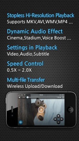 "TTPlayer - Starting with stopless playback. It is like having your own cinema in your pocket. It supports many video formats and play them directly through iPhone without any complicated process. The greatest thing is it provides ""Cinema ,Voice Boost ,Bass Boost"" and many other audio effects to makes watching videos more enjoyable.: Complicated Process, Stopless Playback, Audio Effects, Boost Bass, Cinema Voice"