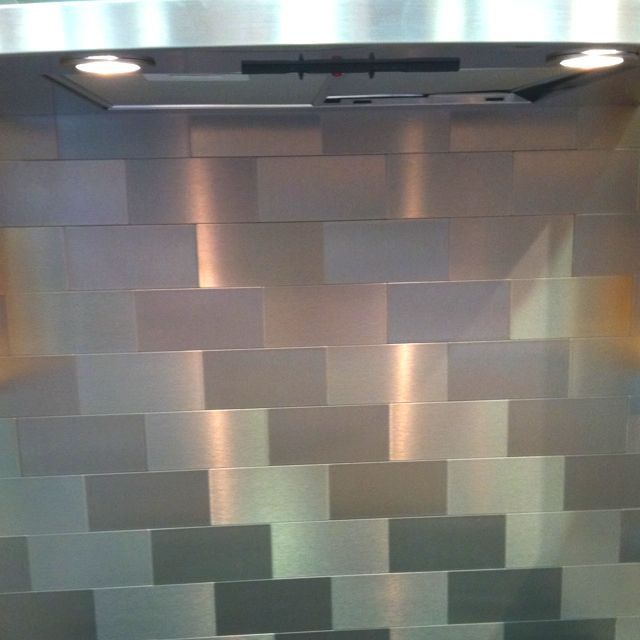 stainless steel subway tile backsplash tiles pinterest